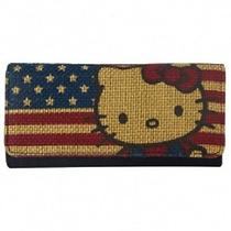 Hello Kitty American Flag Stars and Stripes Wallet Photo