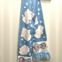 Hello Kitty and Friends Blue White and Pink Scarf New Photo