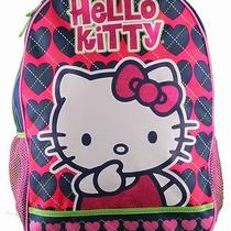 Hello Kitty Argyle Heart Backpack Photo