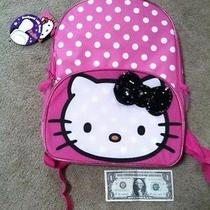 Hello Kitty Backpack With Hood / Book Bag / Knapsack Photo