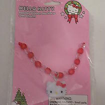 Hello Kitty Beaded Ribbon Necklace With Charm Photo