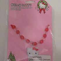 Hello Kitty Beaded Ribbon Necklace With Charm Photo