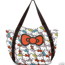 Hello Kitty Big Tote Bag Handbag Kawaii Purse Sanrio Japan Mother Day Gift F/s Photo