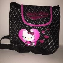 Hello Kitty Black Book Bag Photo
