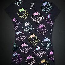 Hello Kitty Black Short Sleeved Girls Shirt Size 7/8 Photo