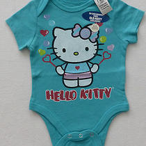 Hello Kitty / Blowing Bubbles / Baby Girl / Creeper / Romper / 0-3 Months / Nwt Photo