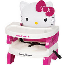 Hello Kitty Booster Seat Toddler Baby Portable High Chair Feeding Tray Girl Pink Photo