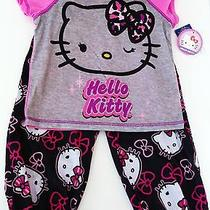 Hello Kitty by Sanrio 2 Piece Pj Sleepwear Flame Resistant Girl's Xs-4/5s-6/6x Photo