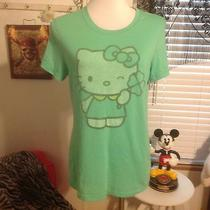 Hello Kitty by Sanrio for Public Library Shirt Size Large Lucky Shamrock Clover Photo