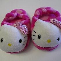 Hello Kitty by Sanrio Pink W/sequins Bow Slippers-Toddler Girls - 9/10 -Preowned Photo