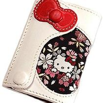 Hello Kitty Cowhide Leather Bike Key Case Ring Cherry Blossom Sanrio Japan T2368 Photo