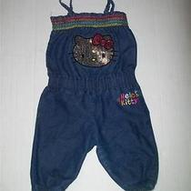 Hello Kitty Denim Blue Jean Jumper Romper- - -2t Photo