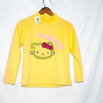 Hello Kitty Embroidered Girls Yellow Sweater by Kiko Nwt Photo