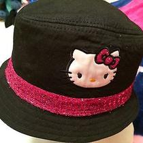 Hello Kitty Fedora Black & Fushia Sequins Size S Girls Hat Photo