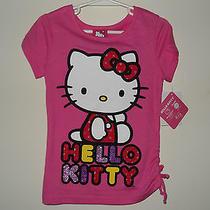 Hello Kitty Girls Cotton Shirt Size 6 Pink Short Sleeves Nwt Photo