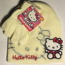 Hello Kitty Girls/kids Lovely Beanie  Gloves 2 Piece Set 2t-5t Sanrio Photo
