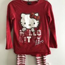 Hello Kitty Girls Pajama Set Size 9-10 Years Red & White Photo