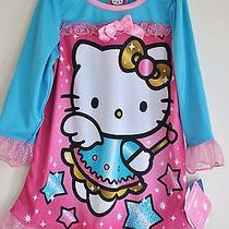 Hello Kitty Girls' Pink & Blue Long Sleeves Graphic Nightgown Size 2t Photo