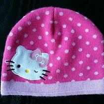 Hello Kitty Girls Pink Polka Dot Winter Hat One Size Photo