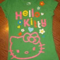 Hello Kitty Green T Shirt Size Large 10/12 Bright Colors Photo