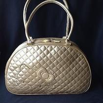 Hello Kitty Handbag Gold Quilted Photo