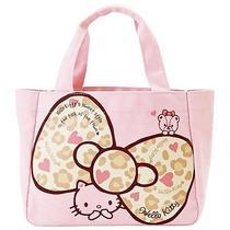 Hello Kitty Handbag Tote Bag Casual Ribbon Purse Sanrio From Japan Gift B2289 Photo