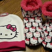 Hello Kitty Hat & Slippers Girls Gift  Photo