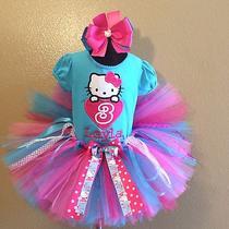 Hello Kitty Heart 3rd Birthday Girl Tutu Set Name Layla as Shown 3 No Changes Photo