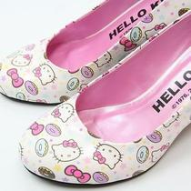 Hello Kitty High Heel Pumps Wedding Shoes Ribbon Sandals Sanrio From Japan Gift Photo