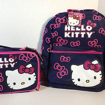 Hello Kitty Large Backpack and Lunch Box Set -16