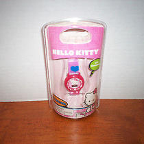 Hello Kitty Lcd Watch Heart  Band With Stones on Case Photo