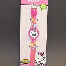 Hello Kitty Lcd Watch W Stones on Case Girl Gift Stocking Stuffer New Free S/h Photo