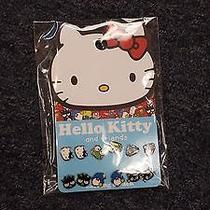 Hello Kitty Loungefly 6-Pair Earring Sets - Mustache Evil Kitty Sunglassesetc Photo