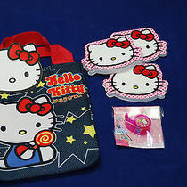 Hello Kitty Loungefly Tote With 3 Notepads and Tape Dispensor Photo
