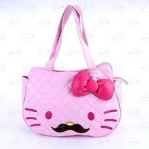 Hello Kitty Mustache Soft Leather-Like Hand Carry Shoulder Bag Pink 5025ps Photo
