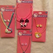 Hello Kitty Necklace and Earring Lot - Bottlecap Bff Best Friends Photo