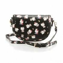 Hello Kitty Ninamew Flap Shoulder Purse Bag Pouch Black White Japan Gift  Z7382 Photo