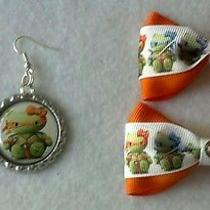 Hello Kitty Ninja Turtle Bow and Earrings Photo