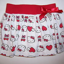 Hello Kitty Nwot Adorable  Skirt With Self Shorts Accent Kitty & Bow 12m Photo