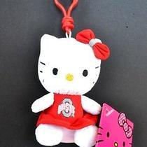 Hello Kitty Ohio State Buckeyes Plush Cheerleader  Keychain Backpack    Gameday Photo