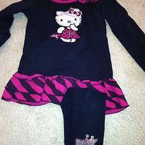 Hello Kitty Outfit Euc Shirt Size 6x Leggings Size 3t Photo
