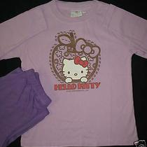 Hello Kitty Pajama Top Long Pants Lounge T Shirt Set Nwt Sleepwear Girl Sz 130 Photo