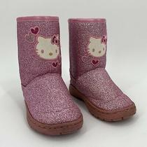Hello Kitty Pink Glitter Boots Toddler Girls Size 6 Sanrio Photo