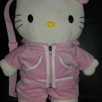 Hello Kitty Pink Plush Girls Toddler Zip Backpack Adjustable Straps Bag Sanrio Photo
