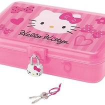 Hello Kitty Pink Ribbon Jewelry Case With Lock Photo