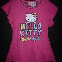 Hello Kitty Pink Sleeveless Girls Hanker Chief Tunic Shirt 10/12 Photo