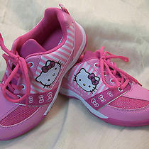 Hello Kitty Pink & White Tennis Shoes Girl's Size 3  New Nwob Photo