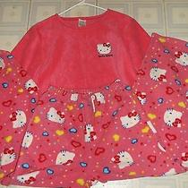 Hello Kitty Pink Womens Warm Pajamas Set Size Small Really Cute Great Gift Photo