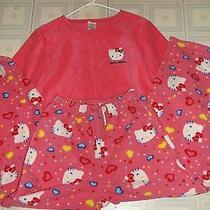 Hello Kitty Pink Womens Warm Pajamas Set Size Small Really Cute Great Gift Photo