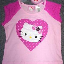 Hello Kitty Pretty Pink Little Girl's Top Size S (6/6x)-New-Nr-Bin Photo